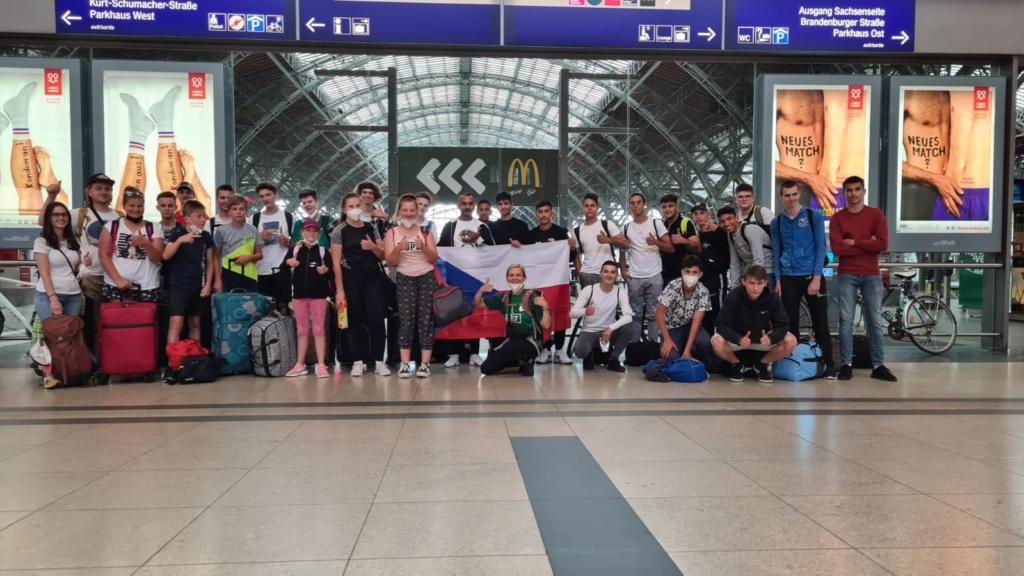 Mongaguá + DDM Blansko po příjezdu do Lipska